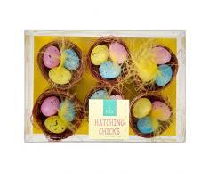 ITP Huevos de Pascua en Decoraciones de Nido - Paquete de 6