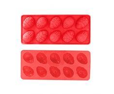 Pascua Mejor decoración para el hogar! Beisoug Lindo Conejito de Pascua Huevos de Silicona Pastel de Chocolate Molde de jabón Molde para Cubos para Hornear (23.2 x 10 cm)
