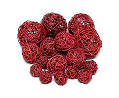 20 ratán bolas Surtido 3 Tamaños, ratán bolas/TOP PRECIO., ratán, creme (gebleicht), 3cm + 5cm + 7,5cm Sortiment