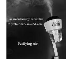 4 en 1 cargador de coche humidificador y difusor de aroma y aire Purify & Dual USB cargador, Megadream® Rotación Portátil Mist humidificador ultrasónico de aceites esenciales aromaterapia vehículos purificador de aire ambientador