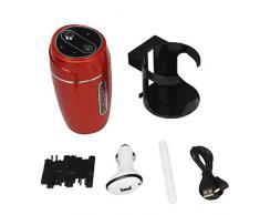 Ularma Casa de auto Mini USB humidificador purificador ambientador (rojo)
