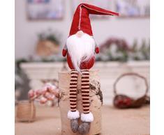 Gnomo de Navidad Hecho a Mano con diseño de Tomate Sueco, Adornos de Navidad, Regalos de Vacaciones, decoración de Mesa para el hogar