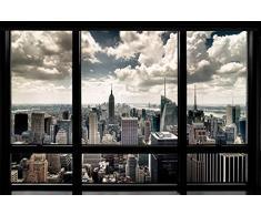 Vista por la ventana en New York City Póster, 92 x 61