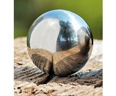 Kit de 4 Bola de jardín PULIDO 6,5 cm de acero inoxidable plata bola Bola Decorativa