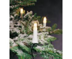 Konstsmide 1997-000 - Guirnalda para árbol de Navidad con velas (30 bombillas transparentes, 230 V, para exteriores, cable verde)