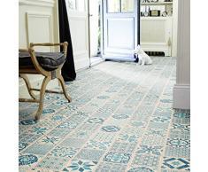 Tarkett 30 - Vinilo laminado para el suelo, diseño vintage, color azul