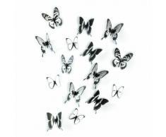 Umbra 470340-188 Decoración de pared Chrysalis Negro/Transparente