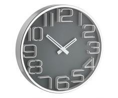 TFA 60.3016.10 - Reloj de pared electrónico, efecto 3D, 300 mm, color gris