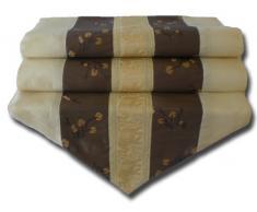 by soljo - crema mesa de mantel de lino camino de mesa corredor seda tailandesa Elefante Elegante 200 cm de largo x 30 cm