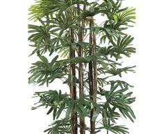 Palmera Rhapis con 5 troncos naturales, 180 cm - árbol artificial / planta sintética - artplants