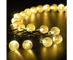 Xintop Luces de Navidad Decoracion Exterior Lampara Solar 30 LEDs Impermeable de IP64 longitud de 6M Perfecta para Boda Jardin Camino Escalera