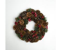 Inter Flower - 1 x - Corona de Navidad, corona de puerta, corona de Adviento, corona decorativa 30 cm Diámetro