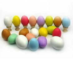 cosanter 2pcs huevos vasos de madera café soporte para huevos de Pascua manualidades niños Kids cocina juegos juguetes