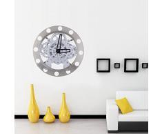 Anself Reloj de cuarzo de pared en forma de engranaje hueca dinámico del estilo metálico mecánico para la decoración regalo creativo