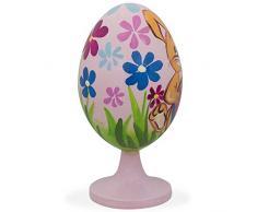 """3,5 """"Conejo decoración de huevos de Pascua con flores de madera figura decorativa"""