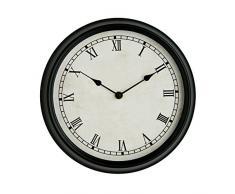 Premier Housewares - Reloj de pared (27 cm, estilo rústico), color negro