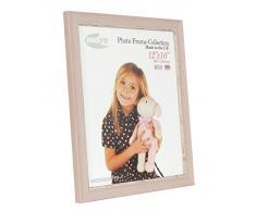 Inov8 12 x 25,4 cm tamaño pequeño marco de fotos de madera de doble apertura para tradicional/marco de fotos, lavar rosa