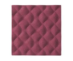 Bi-Office Ripple - Tablón de corcho, 20 x 20 cm, color rosa