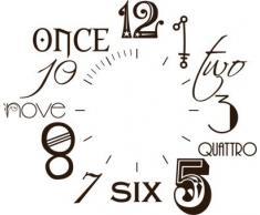 Vinilo de pared: Decoración de pared con reloj número internacional Para el salón la oficina (reloj=Negro//Color=080 Marrón)