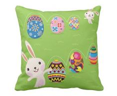 Ltd – Figura decorativa de conejo de Pascua con pintado huevos manta almohadas