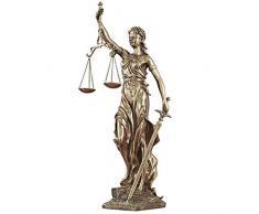 Diosa De La Justicia Estatua Adornos Mitologia Griega Arte Escultura Resina Figurín, El Mejor Inicio Oficina Regalo Decoración,Latón