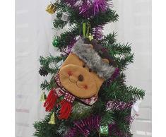 thematys Calcetín de Navidad para Rellenar y Colgar en Diferentes diseños: la decoración navideña (3)