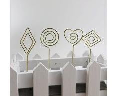 90 puntos lugar tarjeta soporte soporte para DIY Craft tarjeta Nota Memo Clips de fotos para oficina reunión para boda fiesta decoración de una fiesta oro, paquete de 20 unidades