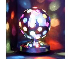 LÁMPARA DE DISCOTECA - Bola de discoteca multicolor - gira 360° - 20 cm de diámetro