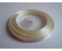 """1 rollo de cinta de raso 6mm 1/4 """", Cream, mínimo de 13 metros, favores de la boda, decoración de la torta, Pascua, Navidad, bebé,"""