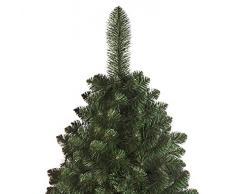 DWA ARBOL Navidad Grande Pino Natural con Conos Nuevo, en Caja, Bosque Tradicional Verde Lujo con Soporte - 220cm - Natural Pine