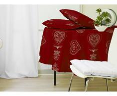 Mantel redondo COURCHEVEL rojo