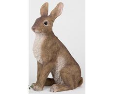 Formano decorativa pintada conejo conejo de Pascua Conejo Figura decorativa naturfaben, 42 cm