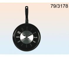 Reloj de pared de metal, negro Forma de Sartén