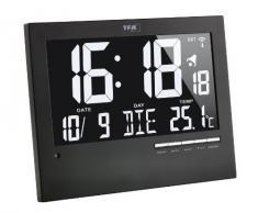 TFA 60.4508 - Reloj digital mural con termómetro, color negro