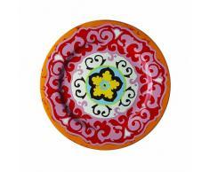 Rose & Tulipani Nador rosa & Tulipani Nador - Juego de 6 platos, diseño mediterráneo de colores