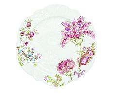 R2S 1050PAIS Plato llano cerámica, diseño de cachemira, 13 X 13 X 15 cm