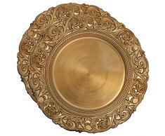 COM-FOUR® 2x Placa decorativa de diseño antiguo - Plato decorativo para bodas y celebraciones familiares - Plato de corona de Adviento para Navidad