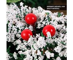 Bweele Corona de Navidad Corona de Navidad Corona de Navidad Corona de Navidad Guirnalda de Navidad Corona de Navidad Decoración navideña para decoración, Navidad, Adviento