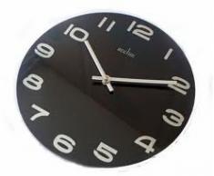 Acctim 27003 Mika Reloj de pared, color negro