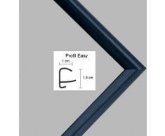Easy Marco de plástico Para cuadros y pósteres 25x35 cm 35x25 cm Color selecionado: azul metálico Con vidrio acrílico