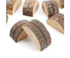 SurePromise 10 piezas de madera tarjeta de lugar de boda mesa número soporte nombre Memo soporte