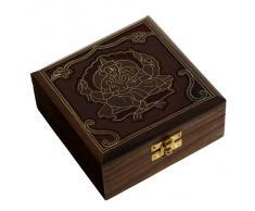 caja de joyería de madera con diseño de señor ganesha handcarved