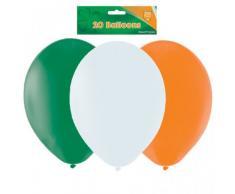 Amscan - Globos para fiesta de San Patricio (23 cm), color verde, blanco y naranja