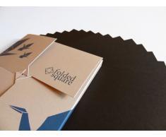 Conjunto de regalo de 100 hojas de papel para papiroflexia - Pantone negro