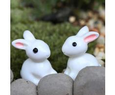 SUPVOX 35 Piezas Mini Figura de Conejo Adorno de Jardín de Hada Figura Decorativa Miniatura Bonsai Casa de Muñecas Decoración de Pascua