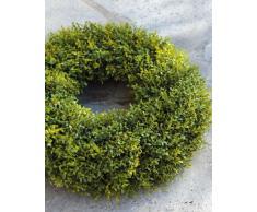 Decorativa corona básica, verde, Ø 35 cm - Guirnalda artificial / Composición floral - artplants