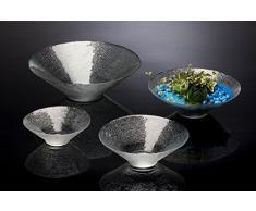 Fuente de cristal DISH GARDEN fuente de cristal plato decorativo cuenco redondo, diámetro 36 cm