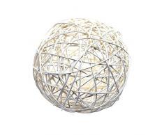 Bolas de ratán 15 cm grande/crema (paquete de 1)/El Precio Superior.
