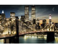 Empire 173010 York - Póster de los rascacielos por la noche (91,5 x 61 cm)