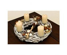 oppacher Advent® Corona de Adviento Original Corona de Navidad inklussive velas Diámetro aprox. 40 cm altura aprox. 18 cm